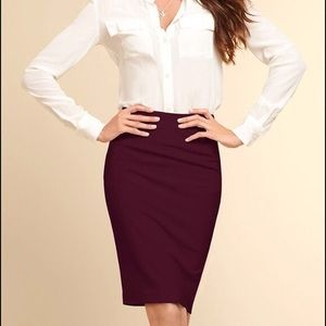 J. Crew Factory The Pencil Skirt Double Serge Wool